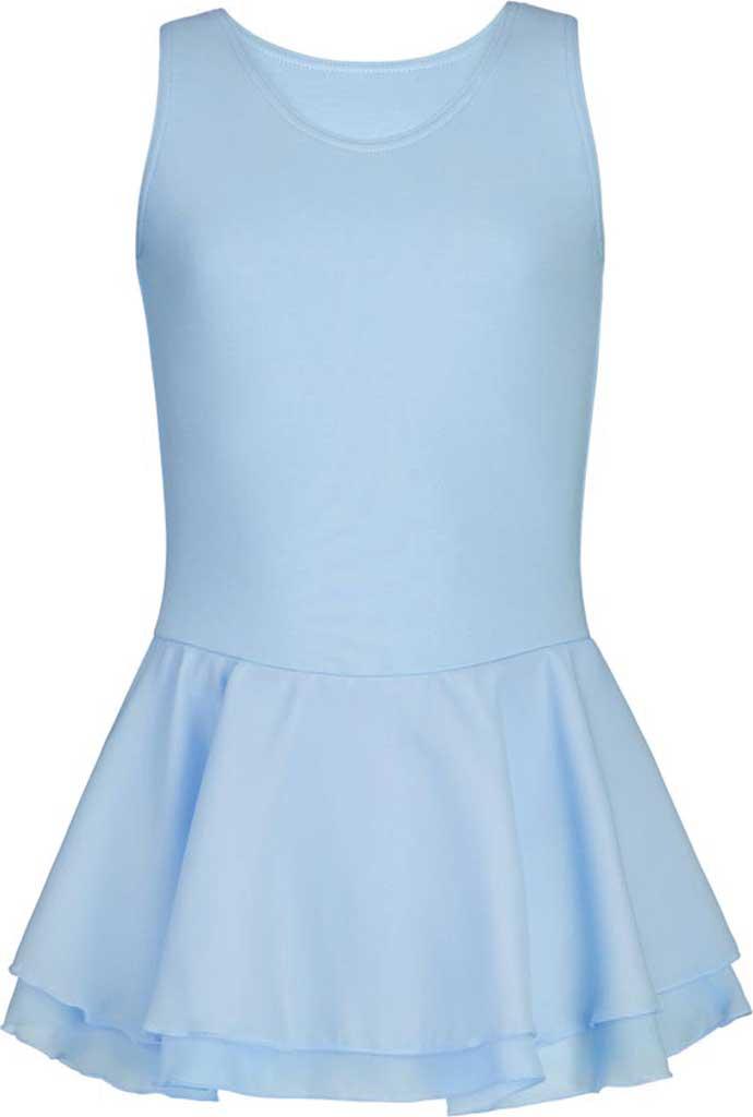Girls' Capezio Dance Double Layer Skirt Tank Dress, Light Blue, large, image 1