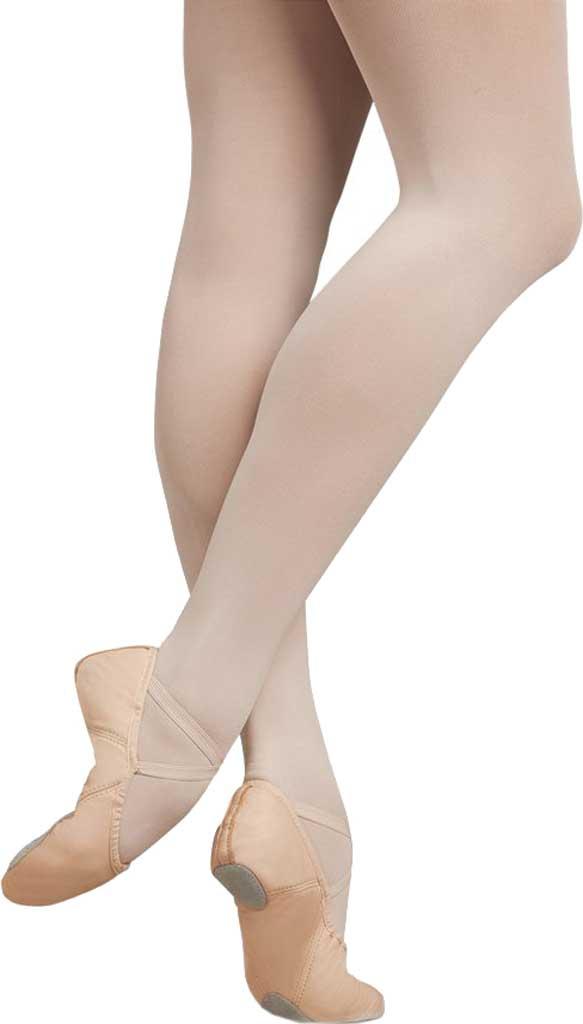 Girls' Capezio Dance Leather Juliet Ballet Shoe, Light Pink, large, image 1