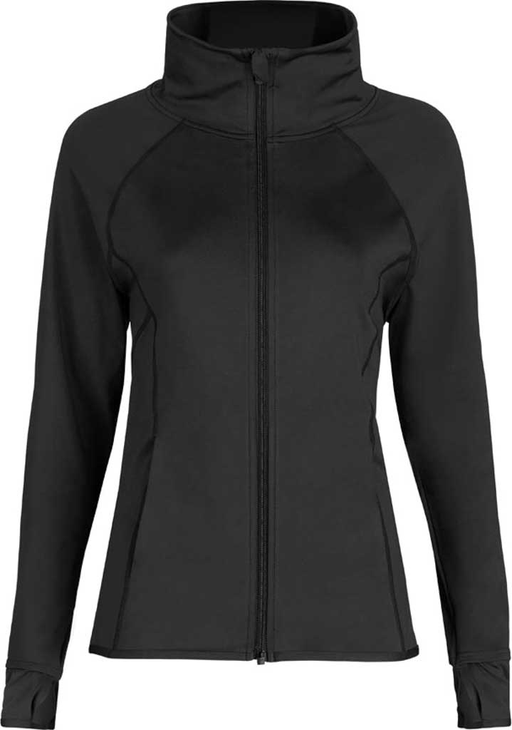 Girls' Capezio Dance Team Spirit Jacket, Black, large, image 1