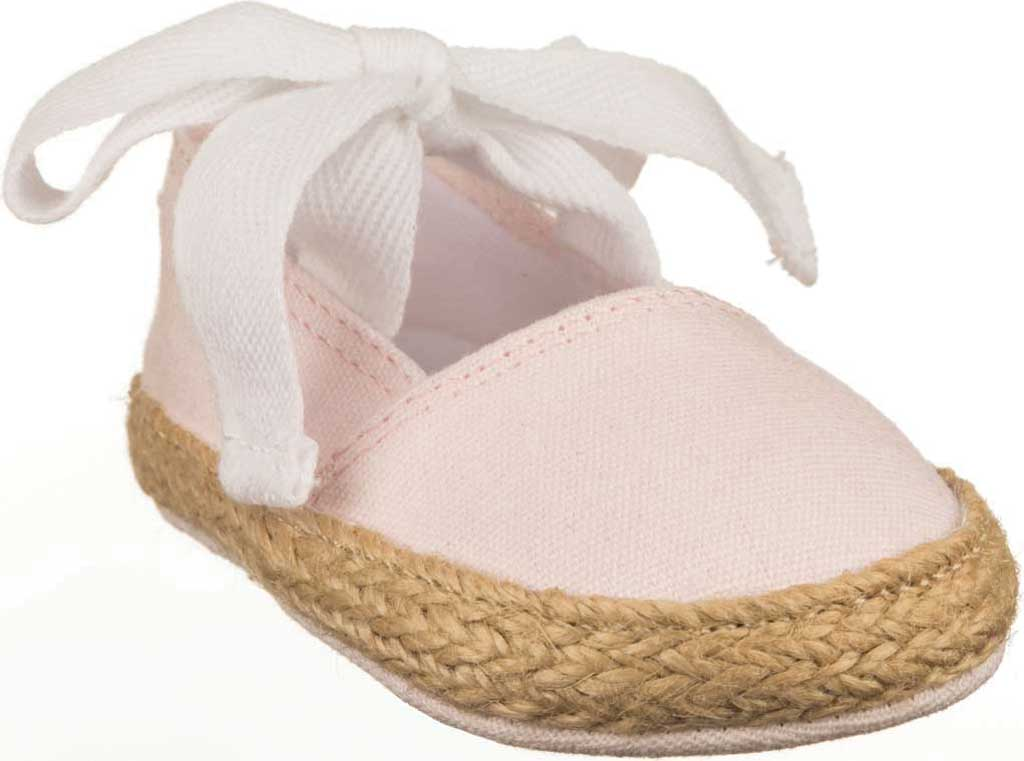 Infant Polo Ralph Lauren Bowman Tie Espadrille, Delicate Pink Canvas, large, image 1