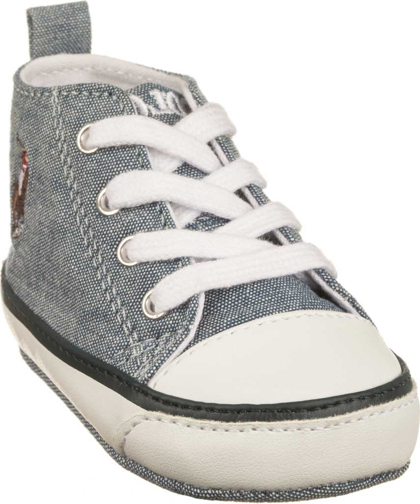Infant Polo Ralph Lauren Hamptyn Hi Top Sneaker, Light Blue Canvas, large, image 1