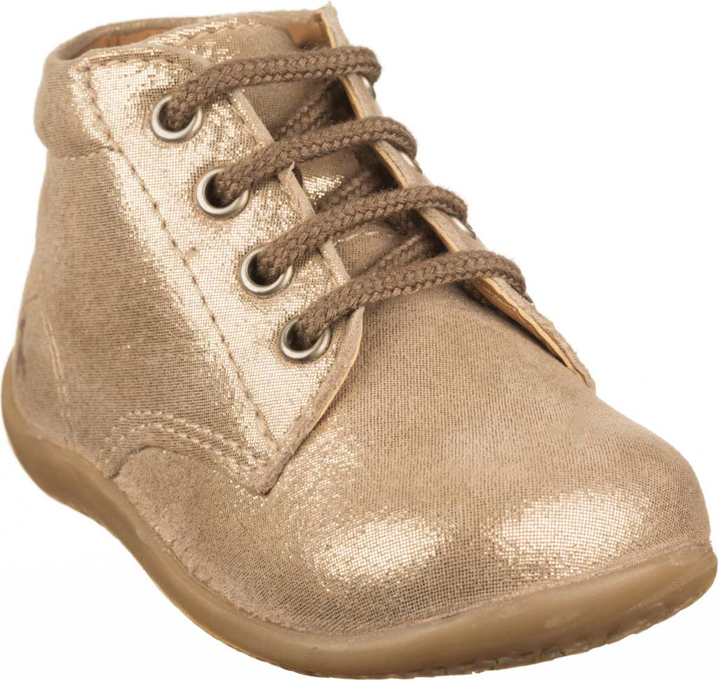 Infant Polo Ralph Lauren Kinley Hi Top Bootie - Toddler, Gold Suede/Foil, large, image 1