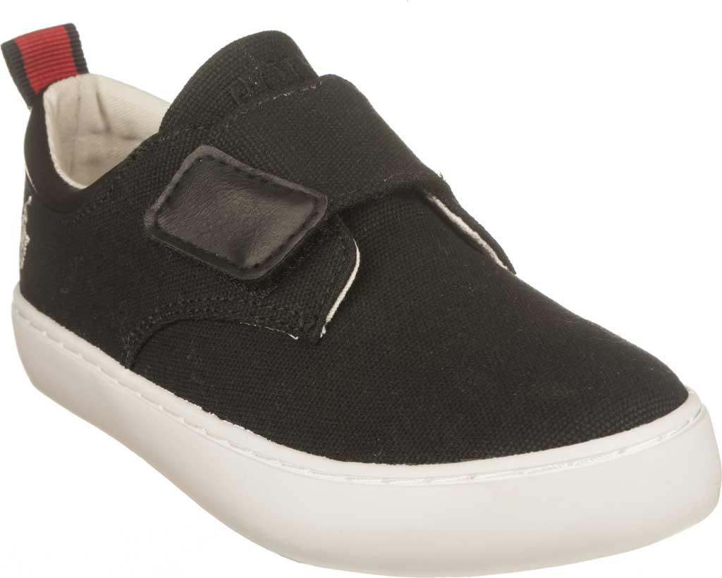 Boys' Polo Ralph Lauren Charter EZ Sneaker - Little Kid, Black Canvas, large, image 1