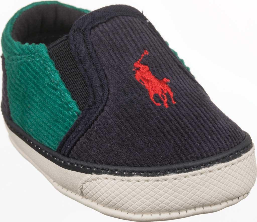 Infant Polo Ralph Lauren Bal Harbour II Slip On Sneaker - Baby, Navy/Green Corduroy/Cotton, large, image 1