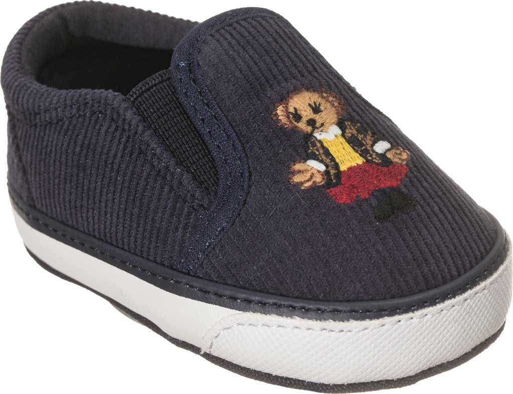 Infant Girls' Polo Ralph Lauren Bal Harbour II Bear Slip On Sneaker - Baby, Navy Corduroy/Cotton, large, image 1