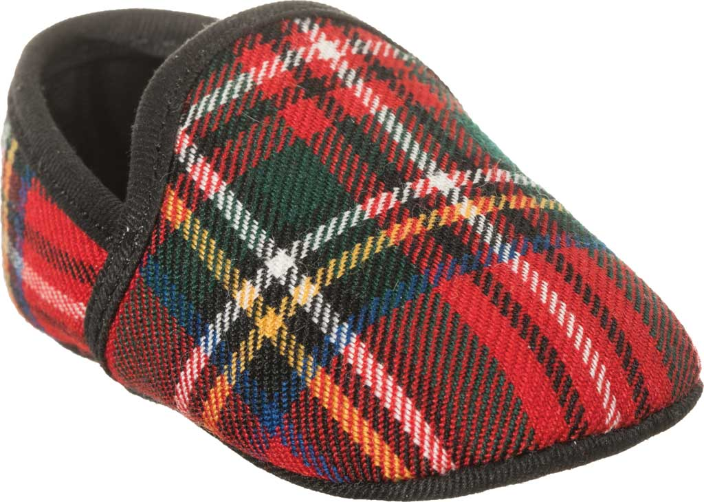 Infant Girls' Polo Ralph Lauren Ash II Slipper, Red Plaid Wool, large, image 1