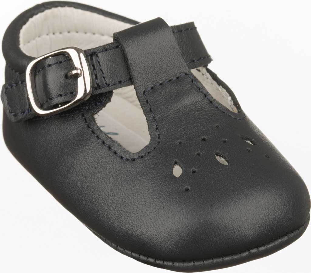 Infant Girls' Polo Ralph Lauren Laurien T-Strap Mary Jane, Navy Leather, large, image 1
