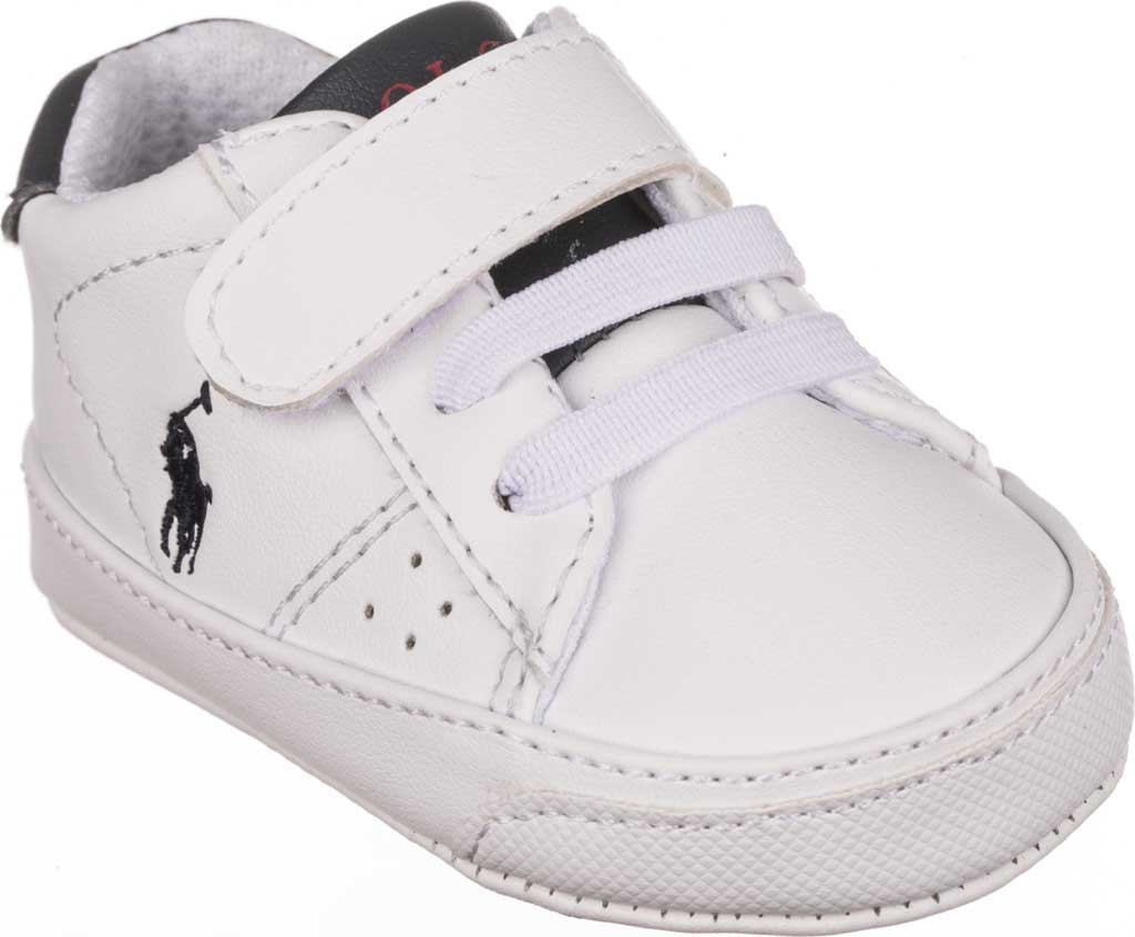 Infant Boys' Polo Ralph Lauren Theron PS Sneaker - Baby, White/Navy Polyurethane, large, image 1