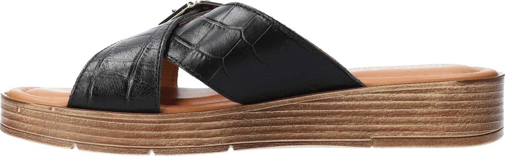 Women's Bella Vita Con-Italy Platform Slide, Black Croco Italian Leather, large, image 3