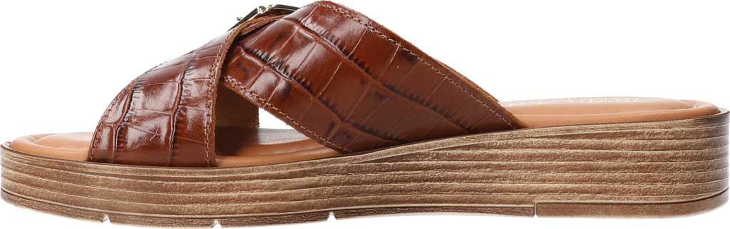 Women's Bella Vita Con-Italy Platform Slide, Cognac Croco Italian Leather, large, image 3