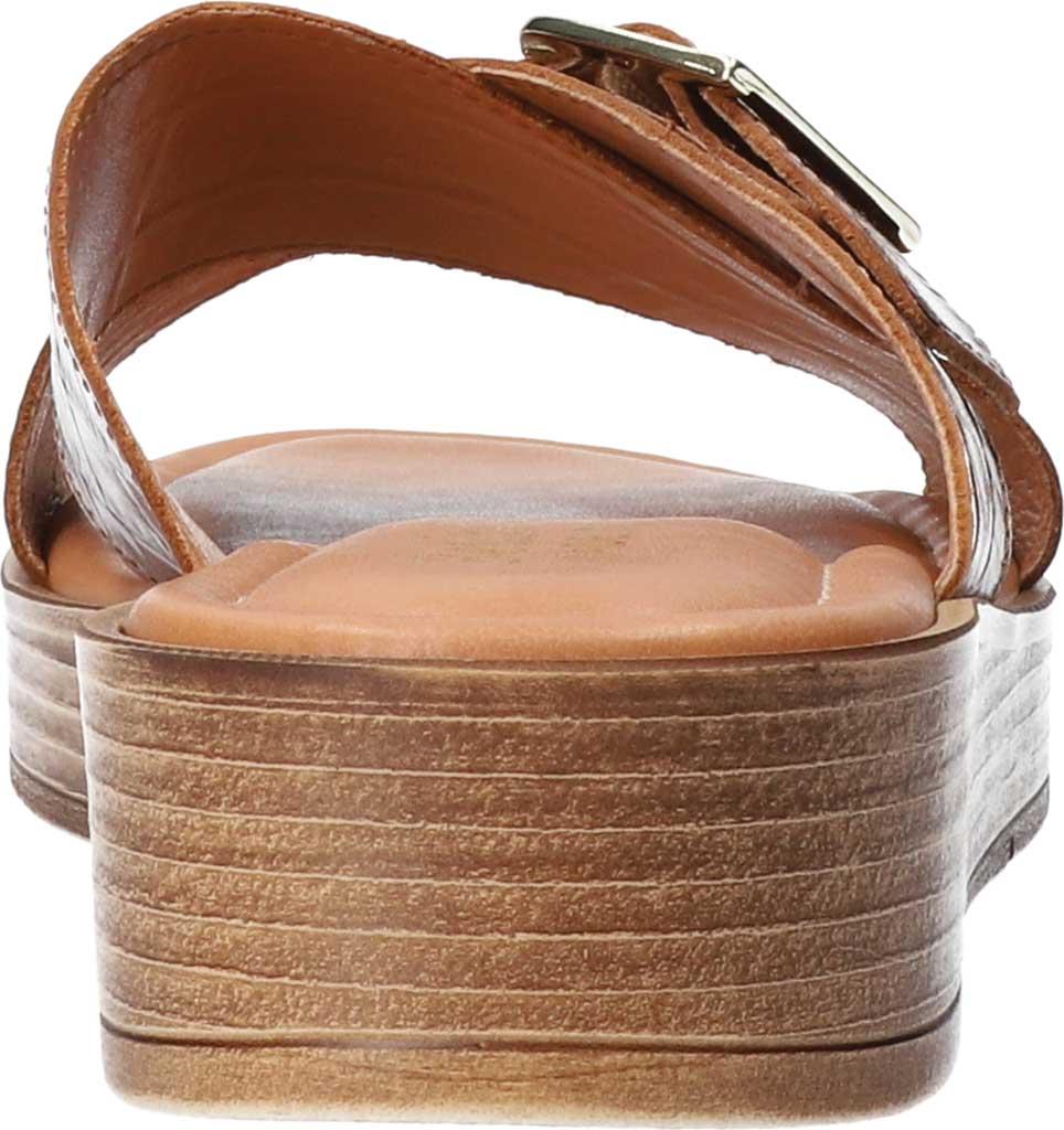 Women's Bella Vita Con-Italy Platform Slide, Cognac Croco Italian Leather, large, image 4