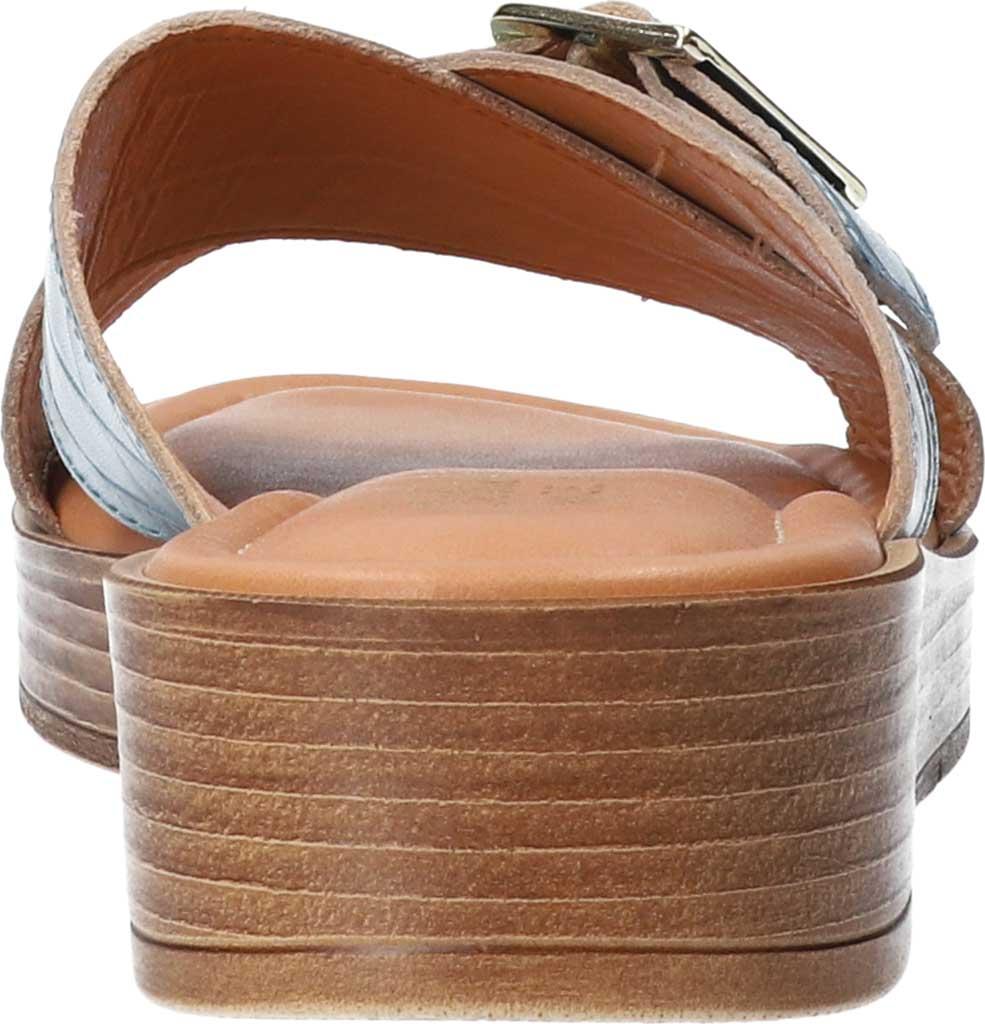Women's Bella Vita Con-Italy Platform Slide, Denim Croco Italian Leather, large, image 4