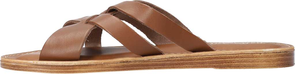 Women's Bella Vita Kin-Italy Flat Slide, Whiskey Italian Leather, large, image 3