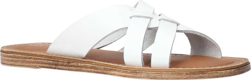 Women's Bella Vita Kin-Italy Flat Slide, White Italian Leather, large, image 1