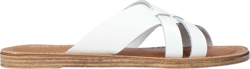 Women's Bella Vita Kin-Italy Flat Slide, White Italian Leather, large, image 2