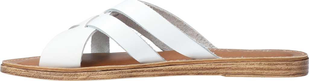 Women's Bella Vita Kin-Italy Flat Slide, White Italian Leather, large, image 3