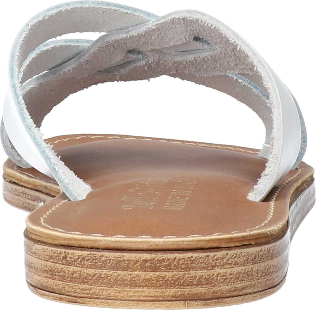 Women's Bella Vita Kin-Italy Flat Slide, White Italian Leather, large, image 4