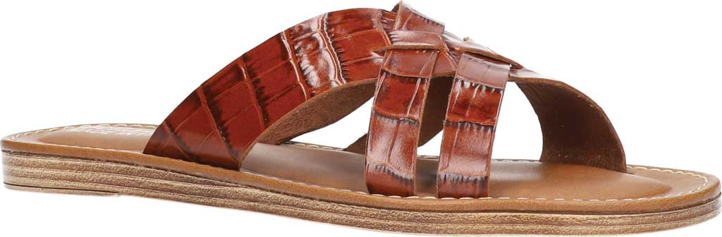 Women's Bella Vita Kin-Italy Flat Slide, Cognac Croco Italian Leather, large, image 1