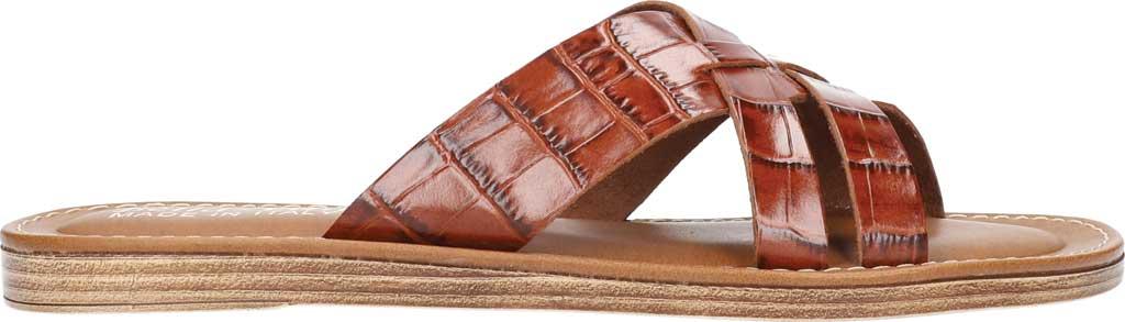 Women's Bella Vita Kin-Italy Flat Slide, Cognac Croco Italian Leather, large, image 2