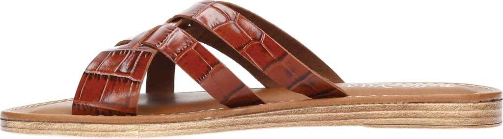 Women's Bella Vita Kin-Italy Flat Slide, Cognac Croco Italian Leather, large, image 3