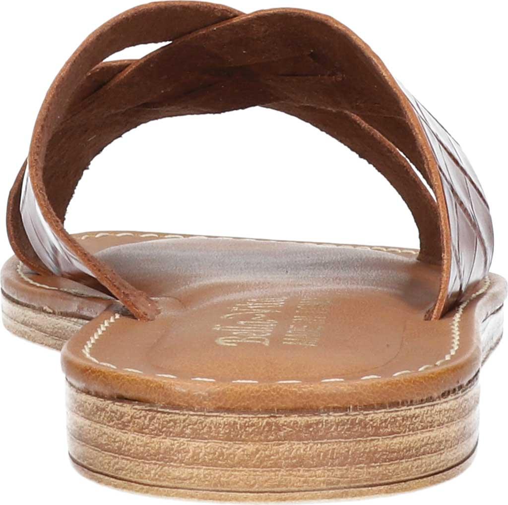 Women's Bella Vita Kin-Italy Flat Slide, Cognac Croco Italian Leather, large, image 4
