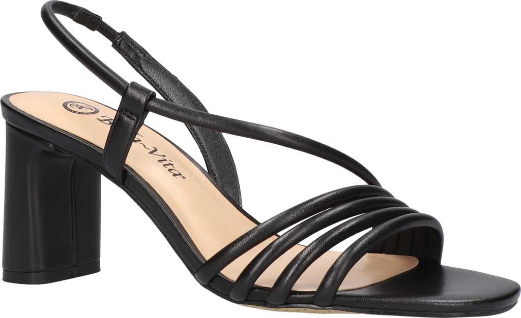 Women's Bella Vita Zariah Strappy Sandal, Black Leather, large, image 1