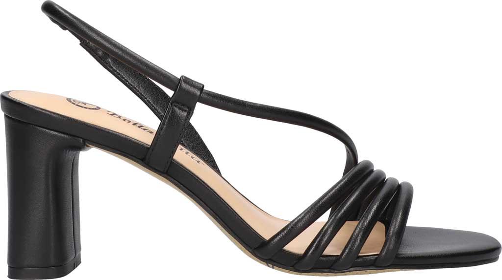 Women's Bella Vita Zariah Strappy Sandal, Black Leather, large, image 2