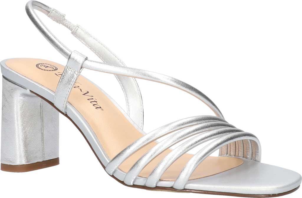 Women's Bella Vita Zariah Strappy Sandal, Silver Leather, large, image 1