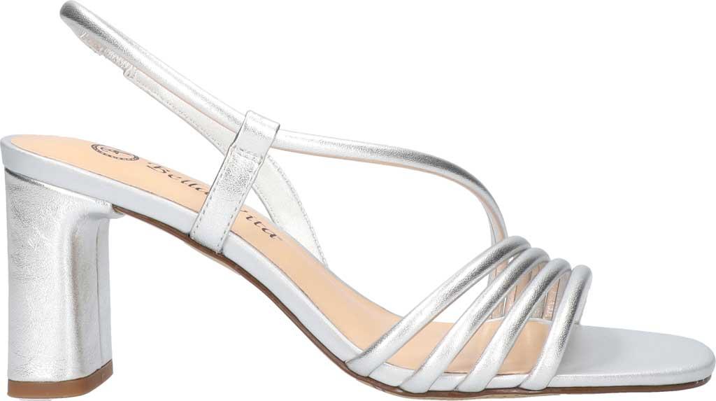 Women's Bella Vita Zariah Strappy Sandal, Silver Leather, large, image 2