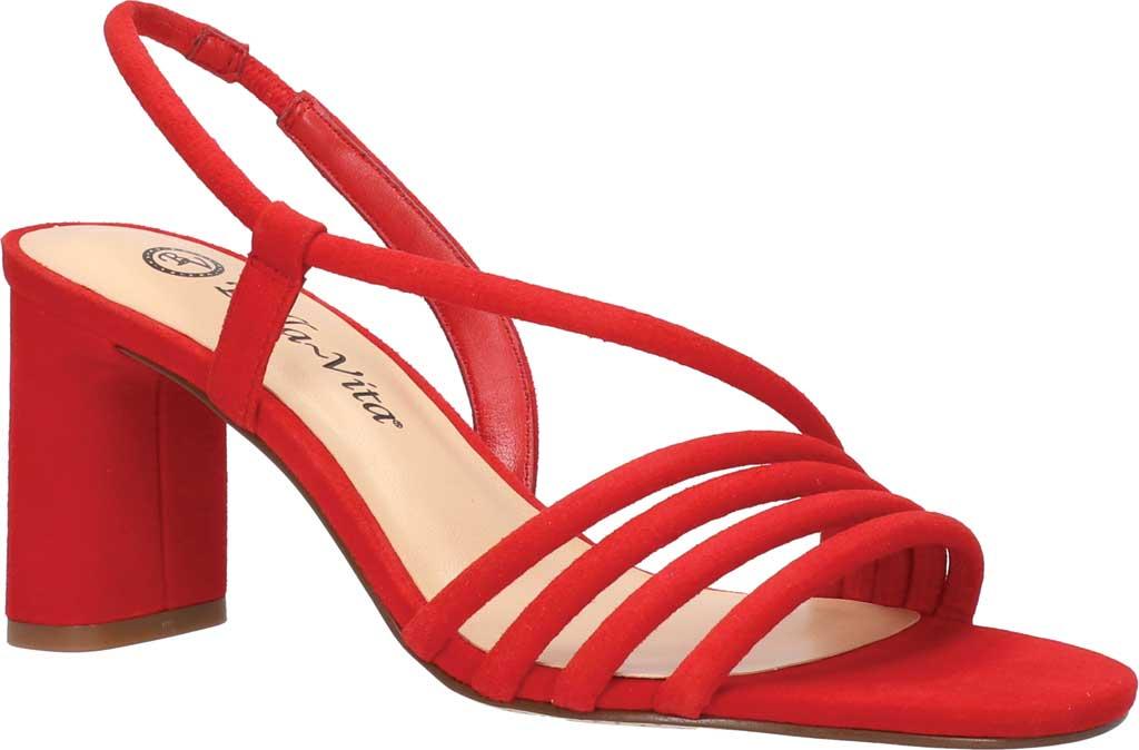 Women's Bella Vita Zariah Strappy Sandal, Red Kidsuede, large, image 1