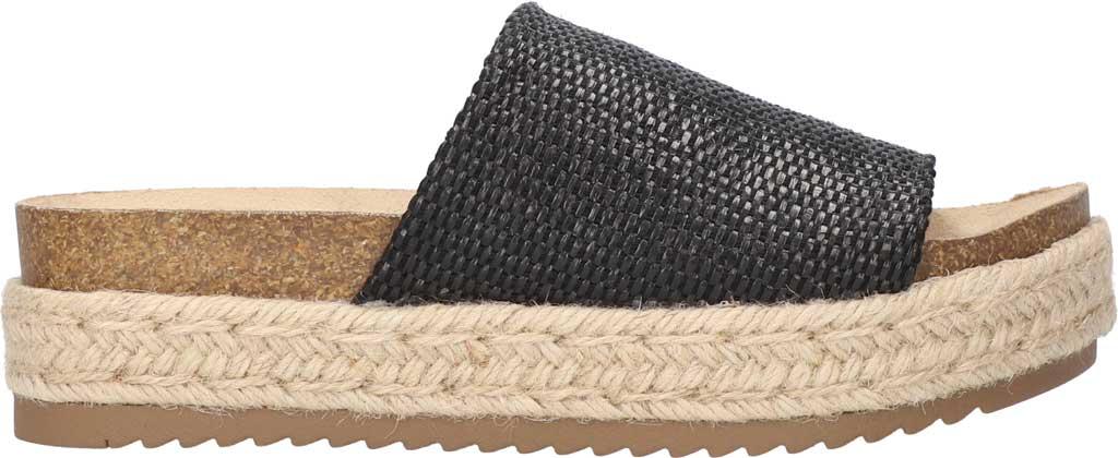 Women's Bella Vita Satara Flatform Slide, Black Woven Fabric, large, image 2
