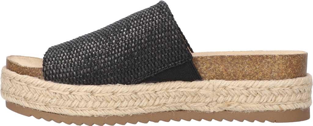 Women's Bella Vita Satara Flatform Slide, Black Woven Fabric, large, image 3