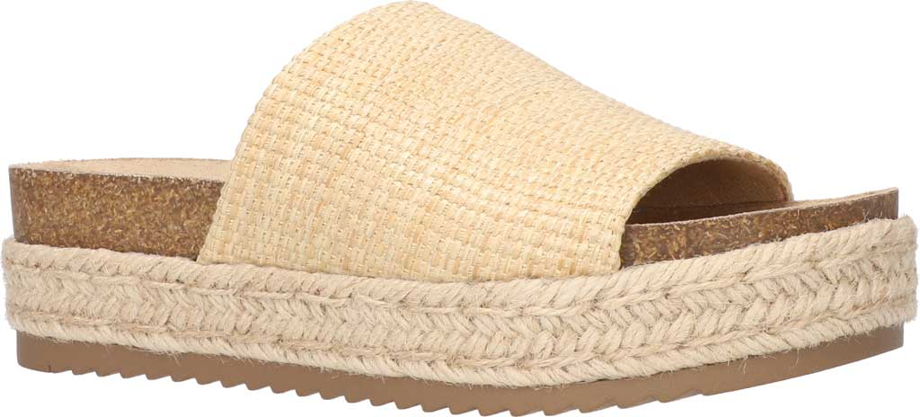 Women's Bella Vita Satara Flatform Slide, Natural Woven Fabric, large, image 1