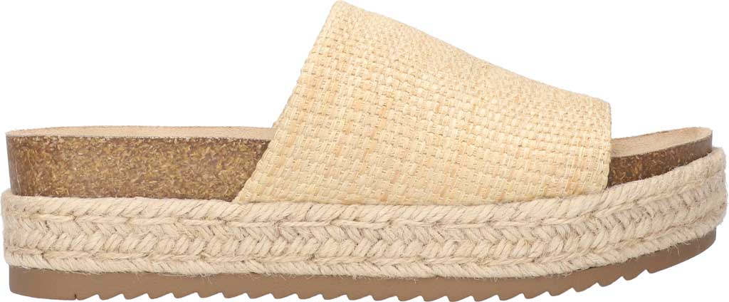 Women's Bella Vita Satara Flatform Slide, Natural Woven Fabric, large, image 2