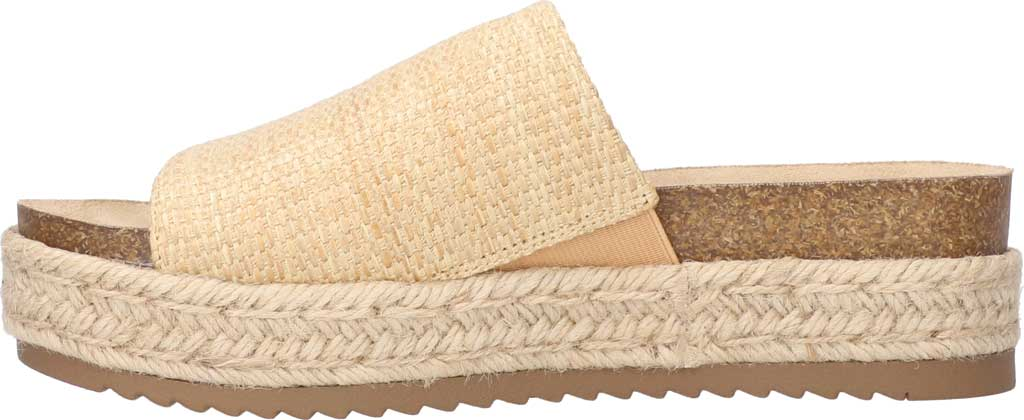 Women's Bella Vita Satara Flatform Slide, Natural Woven Fabric, large, image 3