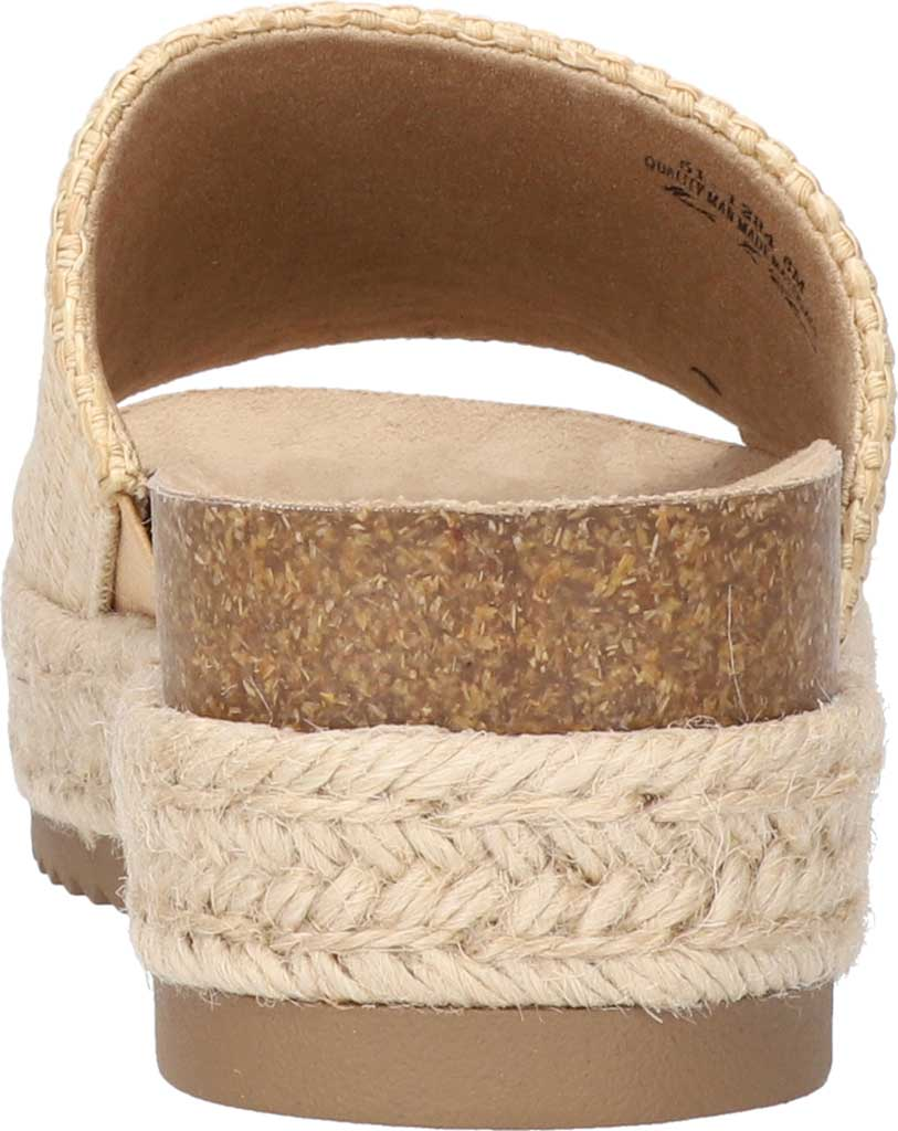 Women's Bella Vita Satara Flatform Slide, Natural Woven Fabric, large, image 4