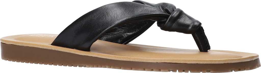 Women's Bella Vita Cov-Italy Thong Sandal, Black Italian Leather, large, image 1