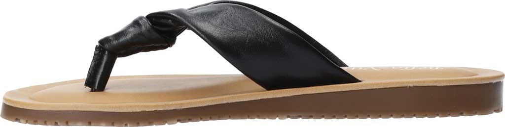 Women's Bella Vita Cov-Italy Thong Sandal, Black Italian Leather, large, image 3