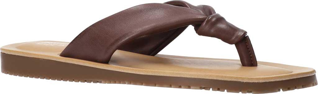 Women's Bella Vita Cov-Italy Thong Sandal, Brown Italian Leather, large, image 1