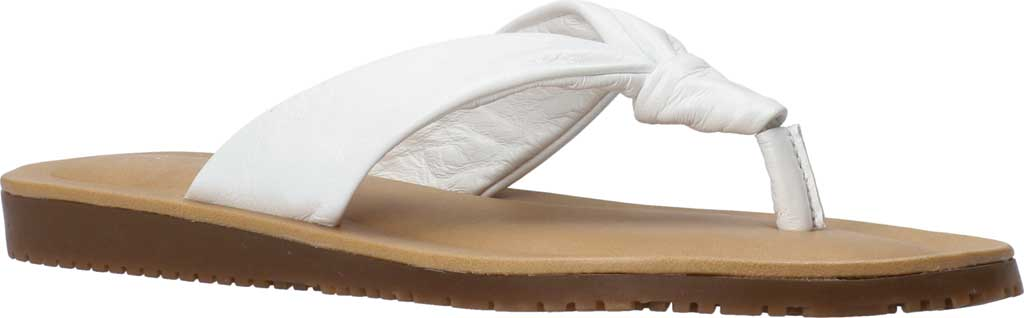 Women's Bella Vita Cov-Italy Thong Sandal, White Italian Leather, large, image 1