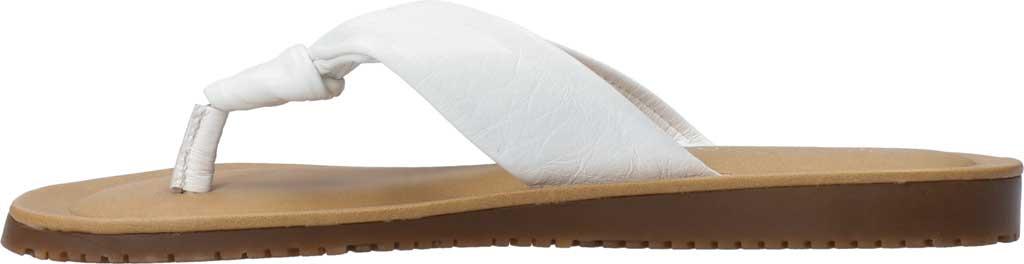 Women's Bella Vita Cov-Italy Thong Sandal, White Italian Leather, large, image 3