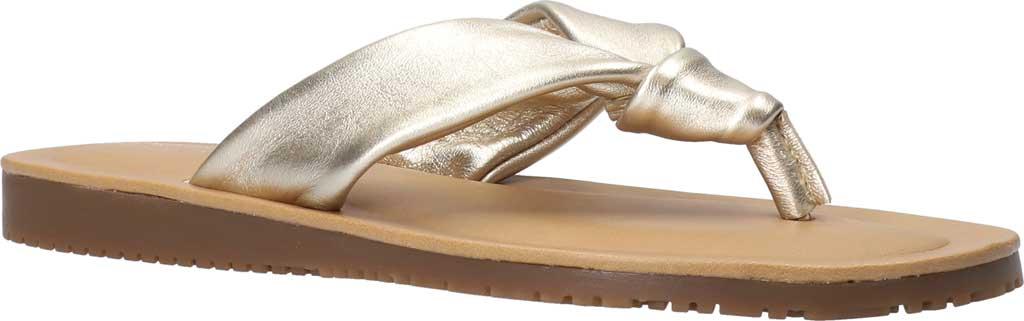 Women's Bella Vita Cov-Italy Thong Sandal, Champagne Italian Leather, large, image 1