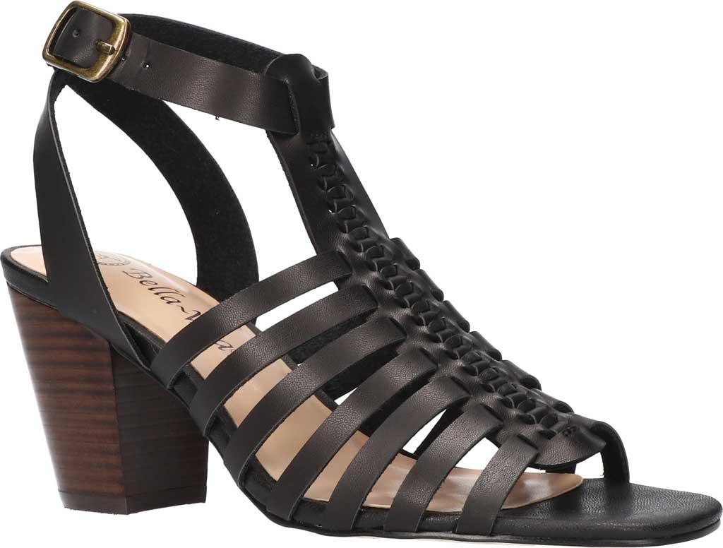 Women's Bella Vita Lissie Ankle Strap Heeled Sandal, Black Synthetic, large, image 1