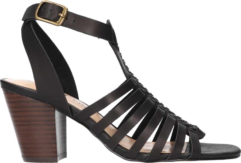 Women's Bella Vita Lissie Ankle Strap Heeled Sandal, Black Synthetic, large, image 2