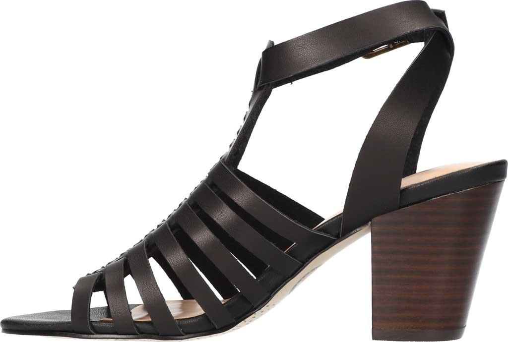 Women's Bella Vita Lissie Ankle Strap Heeled Sandal, Black Synthetic, large, image 3