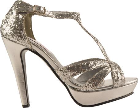 Women's Dyeables Samara, Silver Glitter, large, image 2