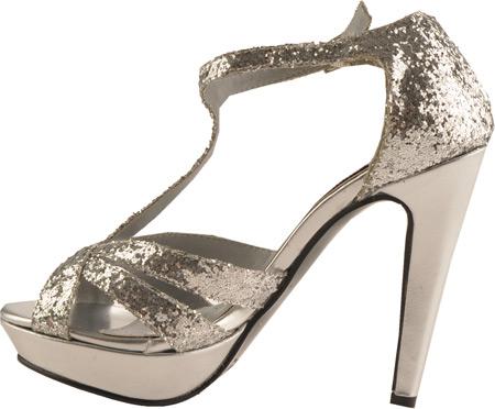 Women's Dyeables Samara, Silver Glitter, large, image 3