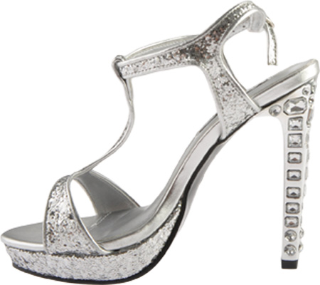 Women's Touch Ups Darcy II, Silver Glitter, large, image 3