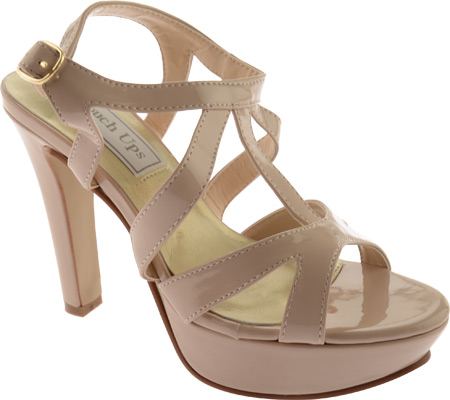Women's Touch Ups Queenie II, Nude Patent, large, image 1