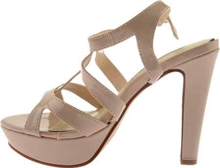 Women's Touch Ups Queenie II, Nude Patent, large, image 3